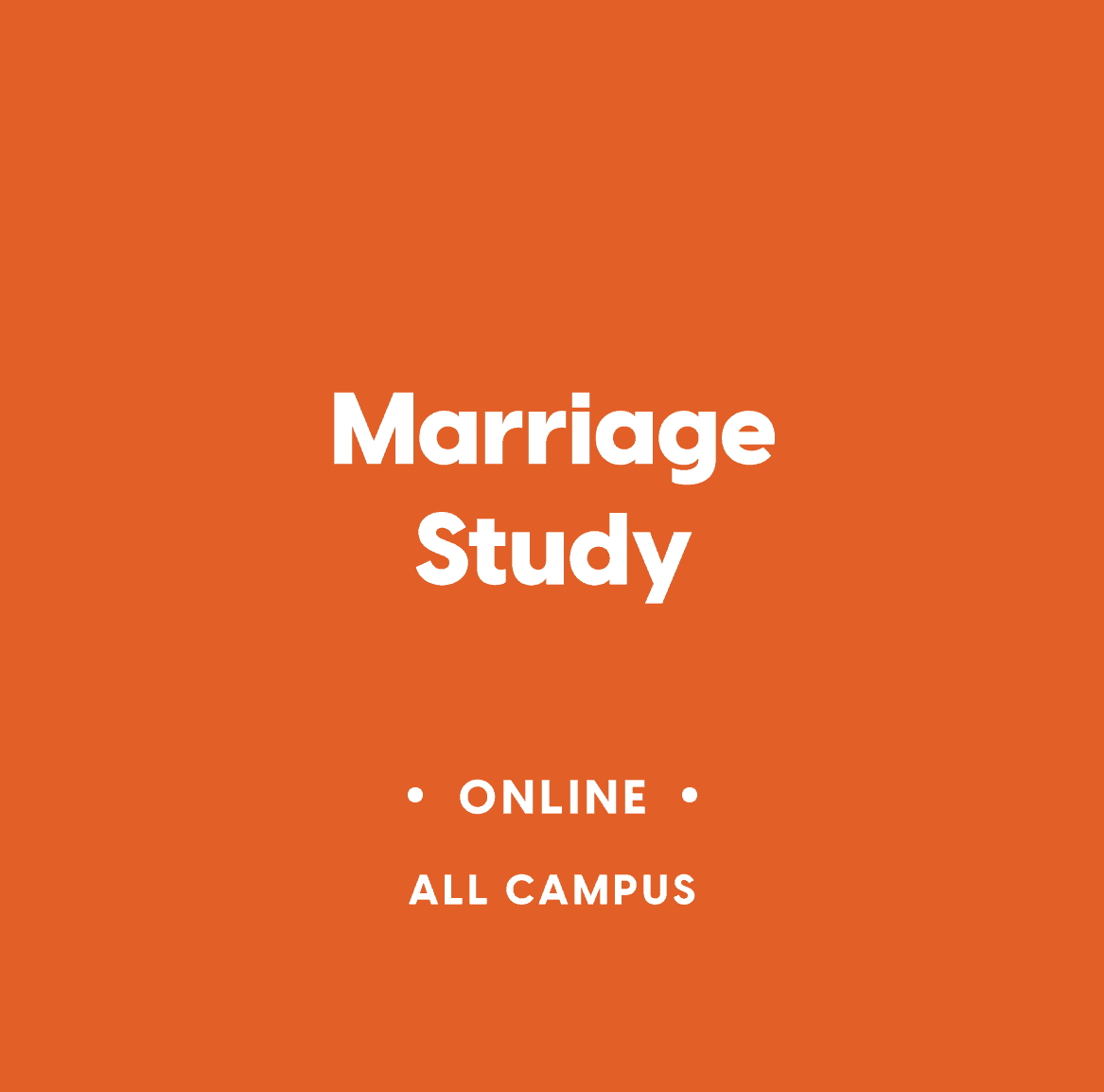 Marriage Study – Online