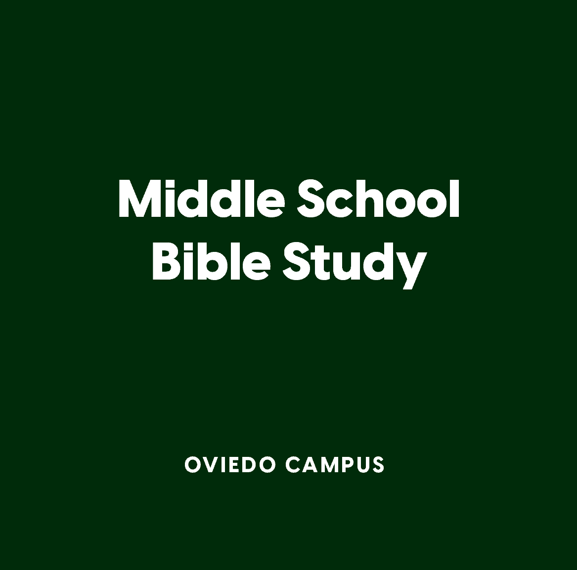 Oviedo Middle School Bible Study