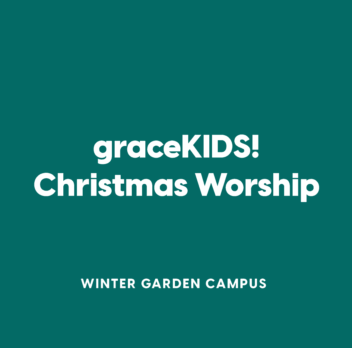 Winter Garden graceKIDS! Christmas Worship
