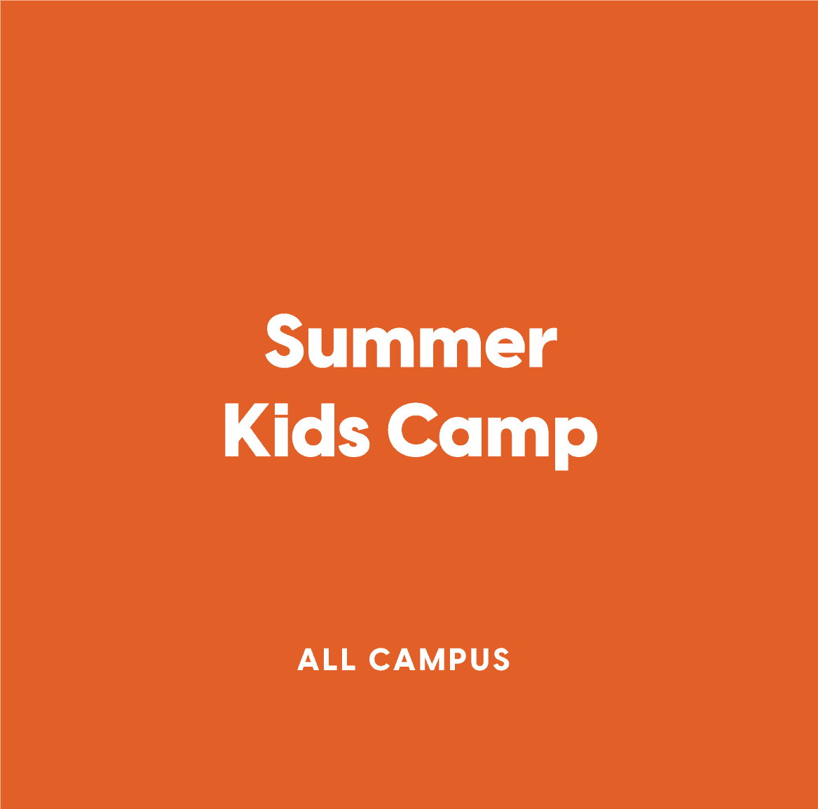 All-Campus Summer Kids Camp