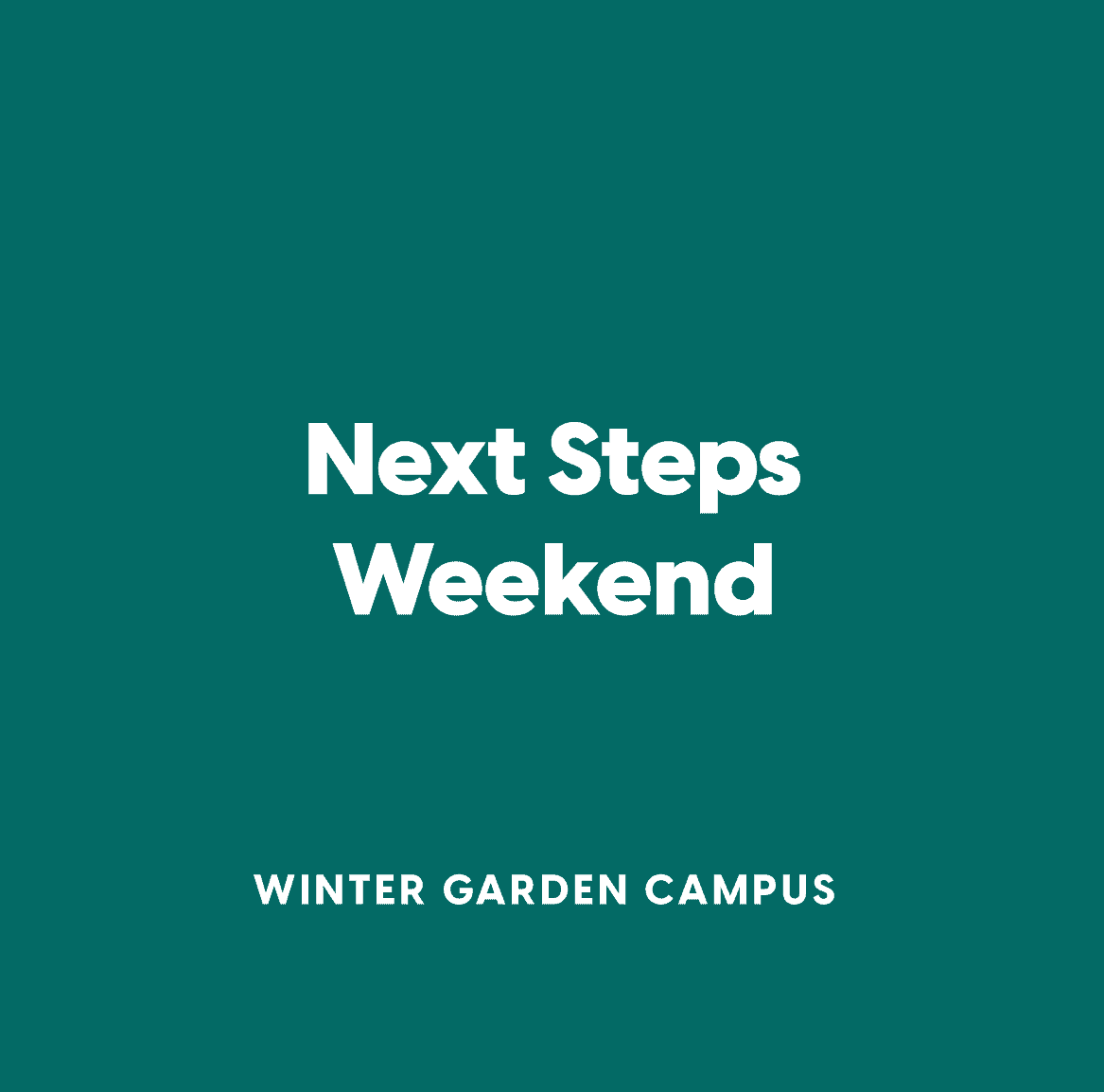 Next Steps Weekend Winter Garden