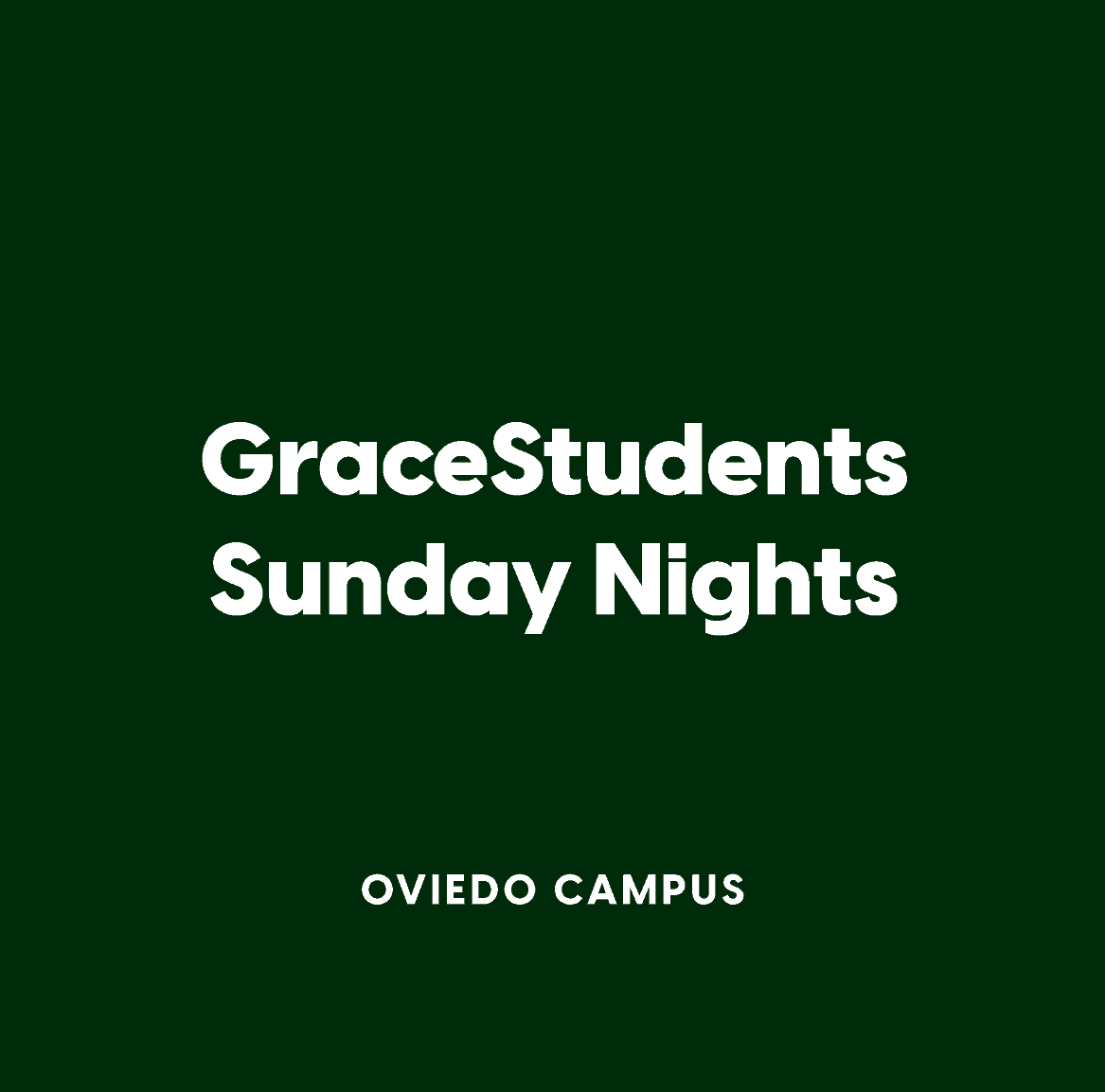 Oviedo Student Sunday Nights