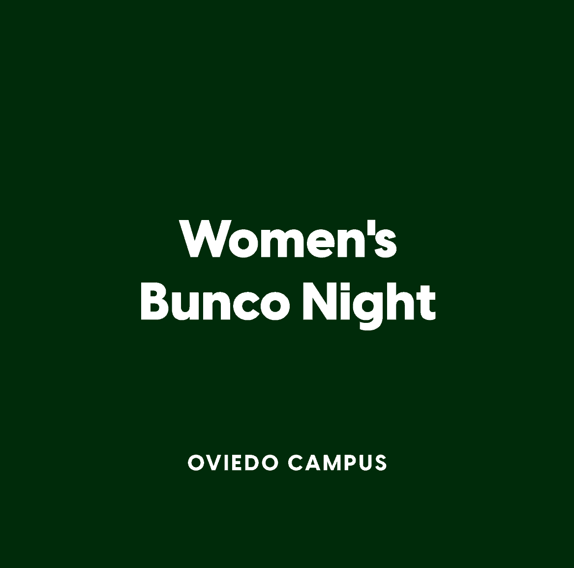 Oviedo Women's Bunco Night