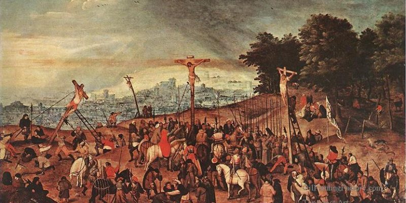 0-Crucifixion-peasant-genre-Pieter-Brueghel-the-Younger